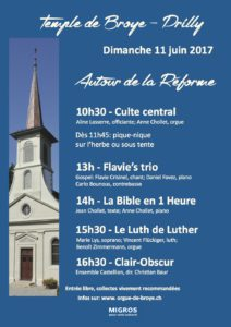 Clair Obscur  (L'ombre lumineuse de S. Castellion) @ Eglise de Broye | Prilly | Vaud | Suisse